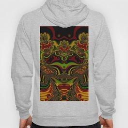 pattern fractal art artwork design gold Hoody
