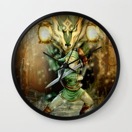 Zelda in the Night Wall Clock