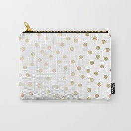 Stylish Gold Polka Dots Carry-All Pouch