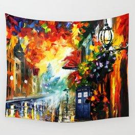 Starry Tardis Night Wall Tapestry