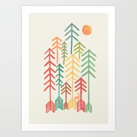 Arrow forest Art Print