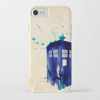 doctor iPhone & iPod Cases featuring Doctor Who TARDIS Rustic by Art by Colin