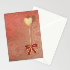 beautiful heart on texture kaleidoscope Stationery Cards