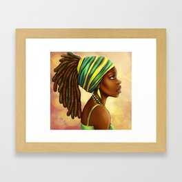 Green Yellow Wrap Framed Art Print