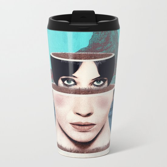 Matrioska Girl / Surrealism Metal Travel Mug