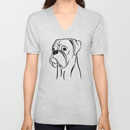 Boxer (Black and White) Unisex V-Neck