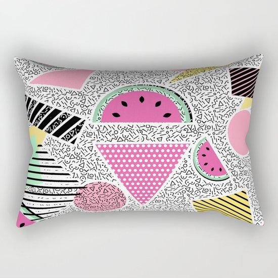 Modern geometric pattern Memphis patterns inspired Rectangular Pillow