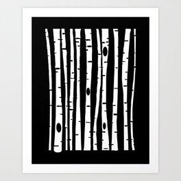 Birchs WHT Art Print