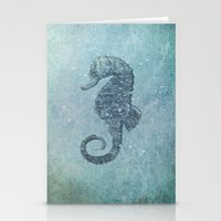 sea horse Stationery Cards featuring sea & horse by Steffi Louis