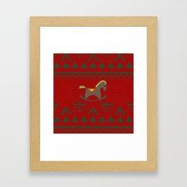 Children's rocking Horse Framed Art Print