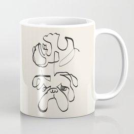 Abstract line english bulldog Coffee Mug