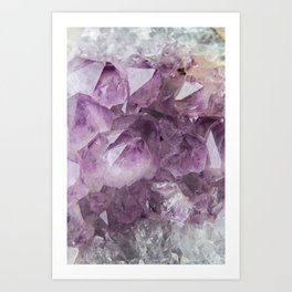 Cluster of Amethyst Art Print