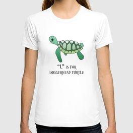 """L"" is for Loggerhead Turtle T-shirt"