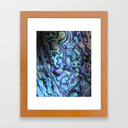 Deep Purple Abalone Shell Framed Art Print