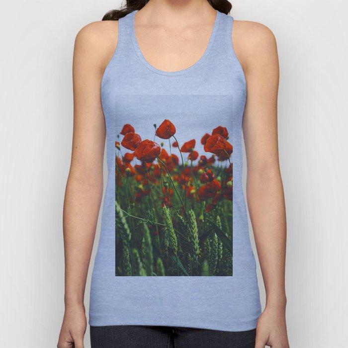 Poppy Flowers Unisex Tank Top