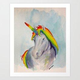 Rainbow Unicorn Two Art Print