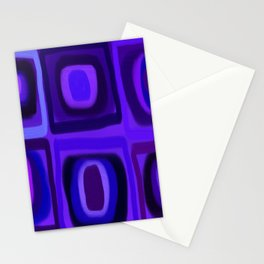 Violets in Blue Windows Stationery Cards