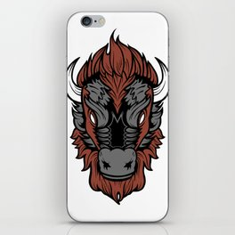 American Bison Buffalo Head iPhone Skin
