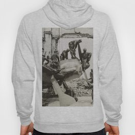 African American WWII Soldiers on Airplane in Oschersleben, Germany, 1945 Hoody