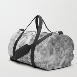 Black and White Marble Texture Duffle Bag