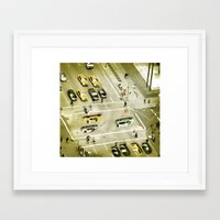 escher Framed Art Prints featuring Escher Intersection by Vin Zzep