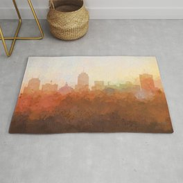 Fresno, California Skyline - In the Clouds Rug