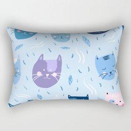 Little blue cats Rectangular Pillow