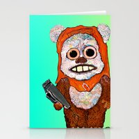 ewok Stationery Cards featuring Eccentric Ewok by Jordan Soliz