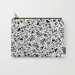Chaotic white tangled ropes and dark lines. Carry-All Pouch