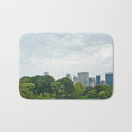 Sunday morning in Central Park NYC Bath Mat