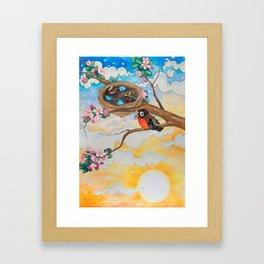 Spring: Mother Robin Framed Art Print