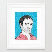 quentin tarantino Framed Art Prints featuring Quentin Tarantino by TSV89