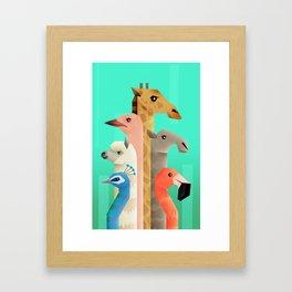 Long necks Framed Art Print