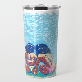 Triangle Beach Travel Mug