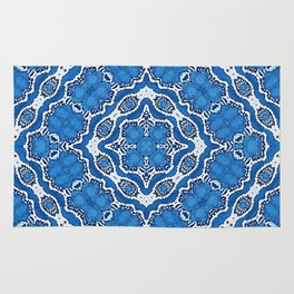 abstract jewel blue Rug