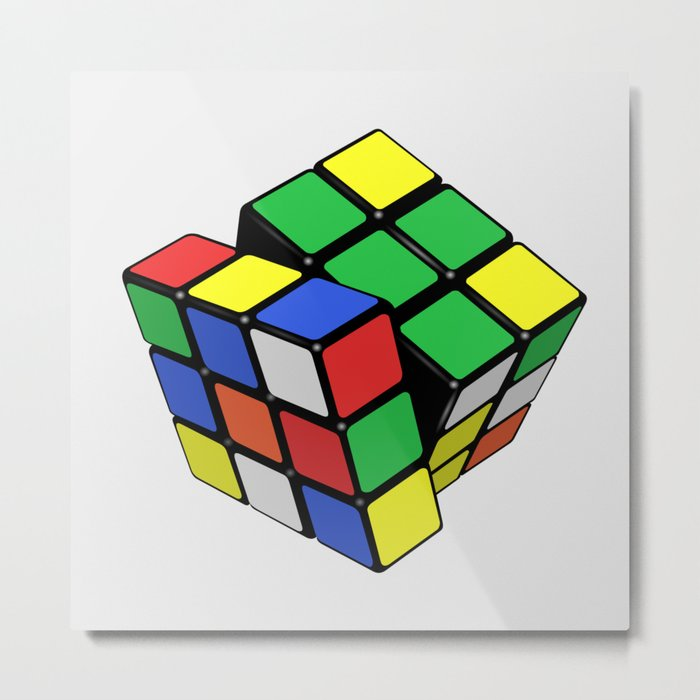 Magic Cube Rubik's_cube Metal Print