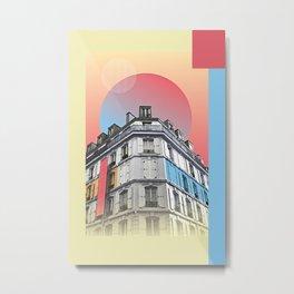 Paris Place Vendome Sunset Metal Print