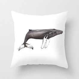 Humpback whale Megaptera Throw Pillow