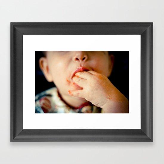 Time to Eat! Framed Art Print
