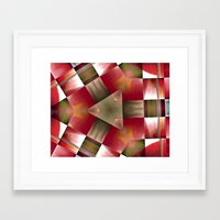 pyramid Framed Art Prints featuring Pyramid by Deborah Janke