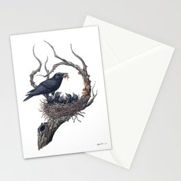American Crow Stationery Cards