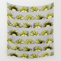 hedgehog Wall Tapestries featuring Hedgehog by Kari Smith Designs