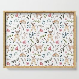 Deer and Leaves Pattern Serving Tray
