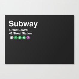 New York City Subway Print  Canvas Print