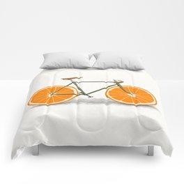 Zest (Orange Wheels) Comforters
