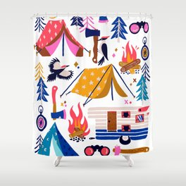 Camping Kit – Rainbow Palette Shower Curtain