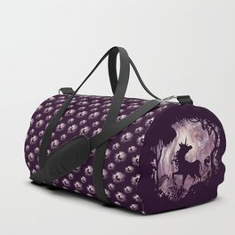 Unicorn in magical forest Duffle Bag