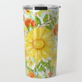 Floral marks Travel Mug