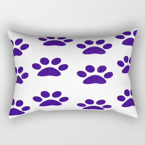 Purple Paws Rectangular Pillow