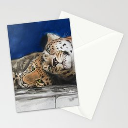 Amur Leopard - Mother and Cub Stationery Cards